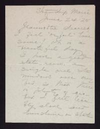 Letter from Mary Woolley to Jeannette Marks, 1925 June 24