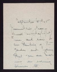 Letter from Mary Woolley to Jeannette Marks, 1925 September 6