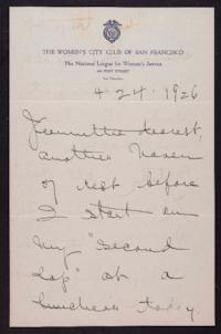 Letter from Mary Woolley to Jeannette Marks, 1926 April 24