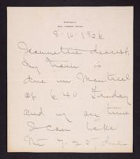 Letter from Mary Woolley to Jeannette Marks, 1926 August 10