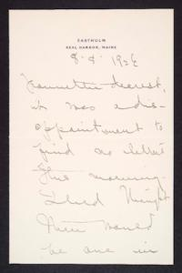 Letter from Mary Woolley to Jeannette Marks, 1926 August 8