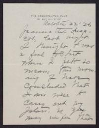 Letter from Mary Woolley to Jeannette Marks, 1926 October 22