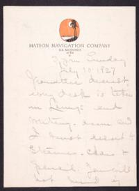 Letter from Mary Woolley to Jeannette Marks, 1927 July 10