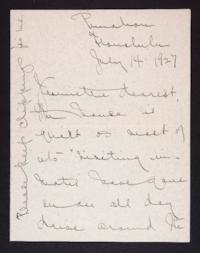 Letter from Mary Woolley to Jeannette Marks, 1927 July 14