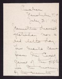 Letter from Mary Woolley to Jeannette Marks, 1927 July 21