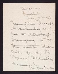Letter from Mary Woolley to Jeannette Marks, 1927 July 24