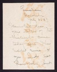 Letter from Mary Woolley to Jeannette Marks, 1927 July 26