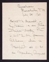 Letter from Mary Woolley to Jeannette Marks, 1927 July 29