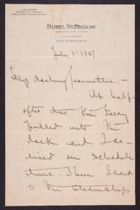 Letter from Mary Woolley to Jeannette Marks, 1927 July 3