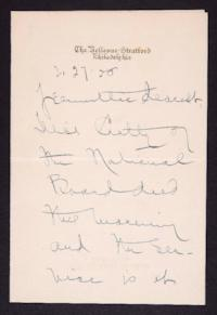 Letter from Mary Woolley to Jeannette Marks, 1928 February 27