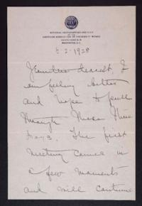 Letter from Mary Woolley to Jeannette Marks, 1928 May 2