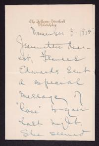 Letter from Mary Woolley to Jeannette Marks, 1928 November 3