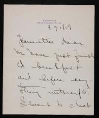 Letter from Mary Woolley to Jeannette Marks, 1929 August 09