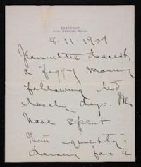 Letter from Mary Woolley to Jeannette Marks, 1929 August 11