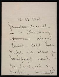 Letter from Mary Woolley to Jeannette Marks, 1929 December 22