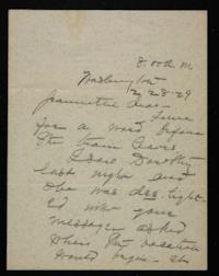 Letter from Mary Woolley to Jeannette Marks, 1929 February 28