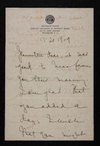 Letter from Mary Woolley to Jeannette Marks, 1929 November 20