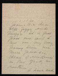 Letter from Mary Woolley to Jeannette Marks, 1930 January 13
