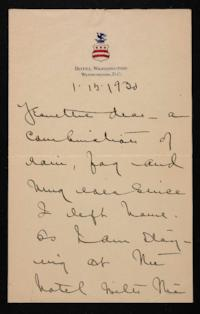 Letter from Mary Woolley to Jeannette Marks, 1930 January 15