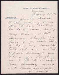 Letter from Mary Woolley to Jeannette Marks, 1932 February 21