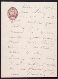 Letter from Mary Woolley to Jeannette Marks, 1932 February 22