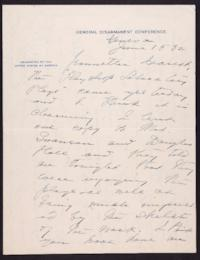 Letter from Mary Woolley to Jeannette Marks, 1932 June 15