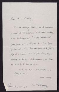 Letter from Mary Woolley to Jeannette Marks, 1932 May 28