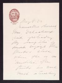 Letter from Mary Woolley to Jeannette Marks, 1932 May 9