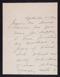 Letter from Mary Woolley to Jeannette Marks, 1932 September 7