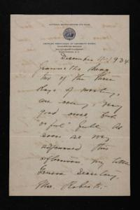 Letter from Mary Woolley to Jeannette Marks, 1934 December 4