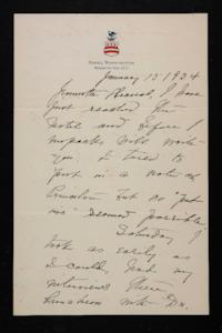 Letter from Mary Woolley to Jeannette Marks, 1934 January 15