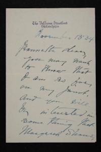 Letter from Mary Woolley to Jeannette Marks, 1934 November 13