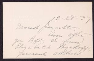Letter from Mary Woolley to Jeannette Marks, 1937 December 28