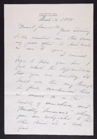 Letter from Mary Woolley to Jeannette Marks, 1938 March 16