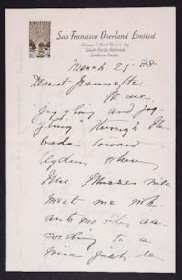 Letter from Mary Woolley to Jeannette Marks, 1938 March 21