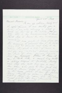 Letter from Mary Woolley to Jeannette Marks, 1939 April 24
