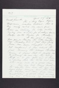 Letter from Mary Woolley to Jeannette Marks, 1939 April 27