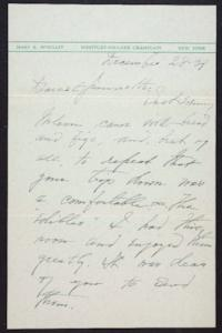Letter from Mary Woolley to Jeannette Marks, 1939 December 28