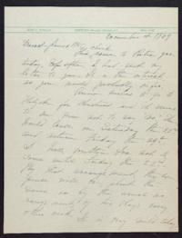 Letter from Mary Woolley to Jeannette Marks, 1939 December 4