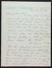 Letter from Mary Woolley to Jeannette Marks, 1939 December 9