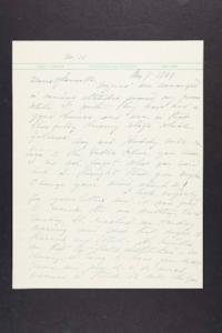 Letter from Mary Woolley to Jeannette Marks, 1939 May 7