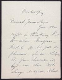 Letter from Mary Woolley to Jeannette Marks, 1939 October 17