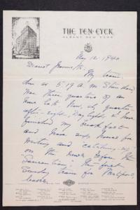 Letter from Mary Woolley to Jeannette Marks, 1940 May 12
