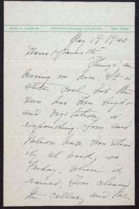 Letter from Mary Woolley to Jeannette Marks, 1940 May 19