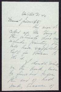 Letter from Mary Woolley to Jeannette Marks, 1940 October 31