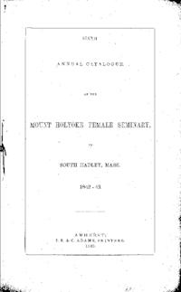 Mount Holyoke College Annual Catalog, 1842-1843