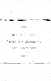 Mount Holyoke College Annual Catalog, 1887-1888