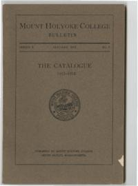Mount Holyoke College Annual Catalog, 1912-1913
