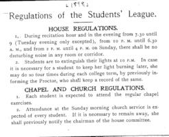 Regulations of the Students' League