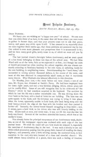 Printed Journal Letter 1: Sept. 23, 1875